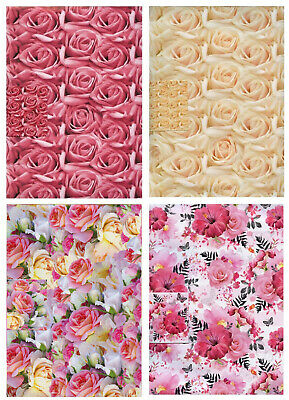 Roses 2 Sheets Of Gift Wrap Wrapping Paper + 1 Tag 3 Designs 1Stp&p Mother's Day