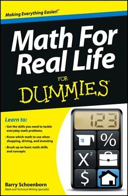 Math for Real Life for Dummies by Barry Schoenborn 9781118453308