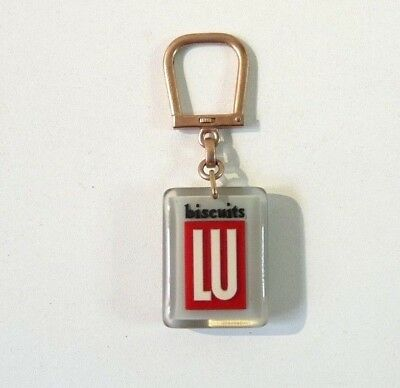 Porte Clé Bourbon Biscuits LU French Vintage Keychain Key ring 1960s