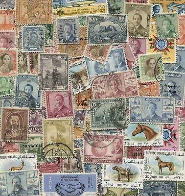 200 Different Iraq Stamps - early years mix of Mint and Used *Free Post*
