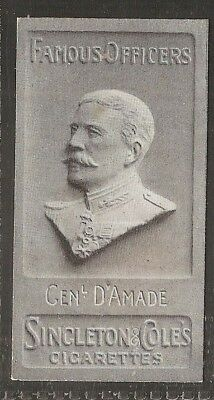 Singleton & Cole-Famous Officers-#24- D'amade - Quality Rare Card!!!