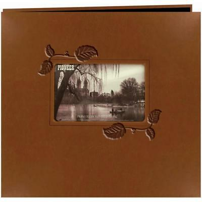 Embossed Leatherette Postbound Album With Window 12x12