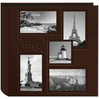 """brown / Travel Embossed Cover Postbound Album 12x12"""""""