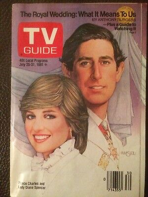 TV Guide July 25, 1981 Prince Charles and Lady Diana Spencer Royal Wedding