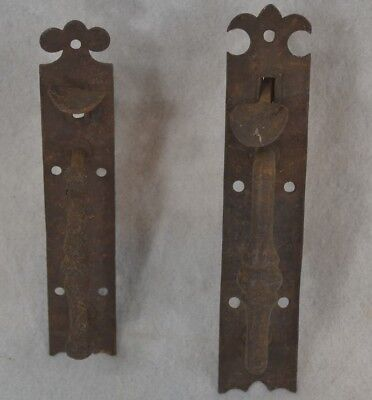 thumb latches hand made iron pair early 19th c antique original 1840