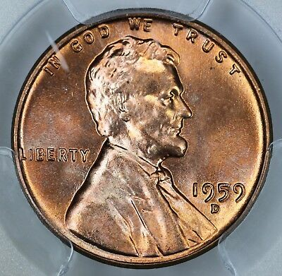 1959-D PCGS MS66RD Lincoln Cent