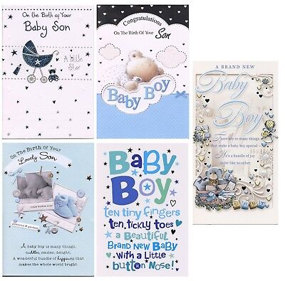 Congratulations On The Birth Of Your Baby Son Birth Cards 1St P&p New Baby Boy
