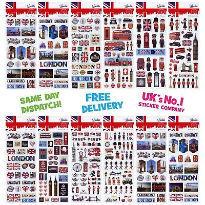 Fun Stickers London Children Birthday Party Loot Bag Fillers Kids Decorating