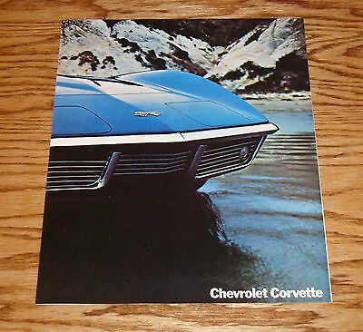 Original 1969 Chevrolet Corvette Facts Features Sales Sheet Brochure 69 Chevy