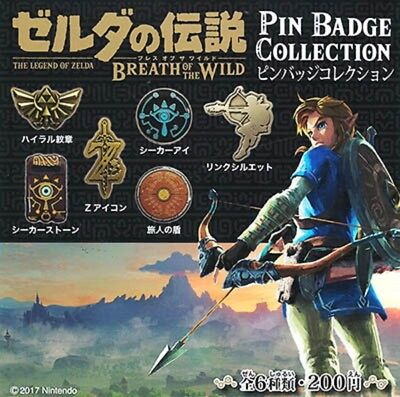 Gashapon The Legend of Zelda Breath of~ Pin Badge Collection : SET (of 6)