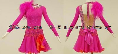 U0083 Competition ballroom women latin salsa rumba samba dance dress Custom made