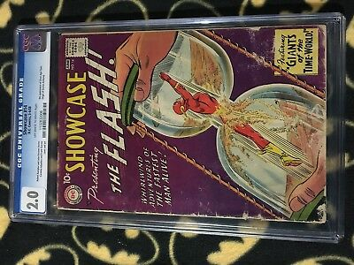 SHOWCASE #14 2.0 CGC Graded Slab DC Comics 1958 FLASH 4th App Origin Dr Alchemy