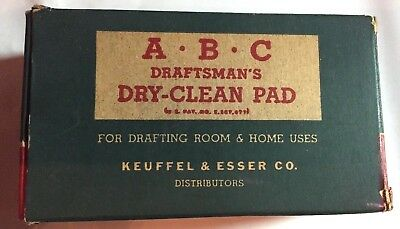 VTG Drafting K+E  ABC DRAFTSMAN'S Dry Clean Pad 3037 in Box Keuffel & Esser