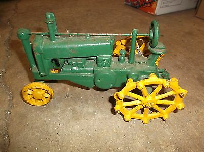Cast Iron metal Toy Tractor Large Size john deere colors