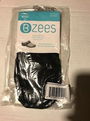 NEW- BZees two pair Black Microfiber toe cover. Sock size 9-11. Shoe size 4-10