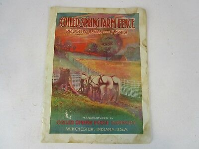 1910 Coiled Spring Farm Fence Winchester IN Wire Mesh Gates Catalog