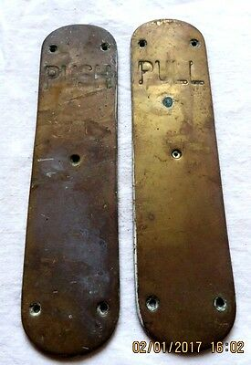 Art Deco  finger plates heavy weight brass