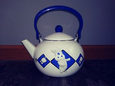 Vintage Pillsbury Doughboy Teapot Kettle Bake-Off 1999  2 Qt. Collectable VGC