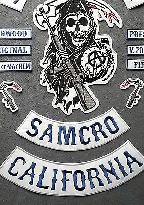 Anarchy Patch SAMCRO Aufnäher Motorrad Redwood Original Sons of Reaper Iron On