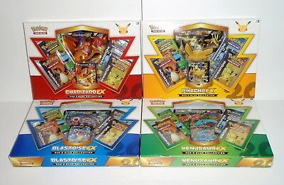 Pokemon 20th Anniversary Mythical Red & Blue Collection alle 4 original verpackt