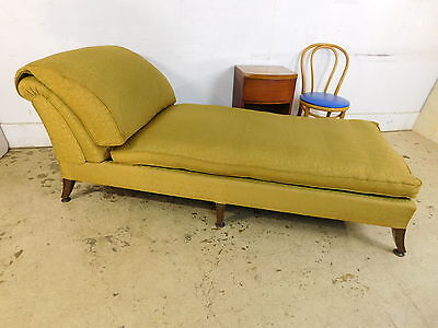 DELUXE! Down Filled Antique Boudoir Chaise Sofa Fainting Couch