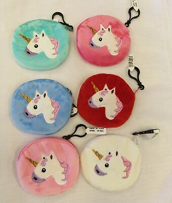 Wholesale 12 PC Lot Unicorn Girls Candy Bags Filler Coin Purses Party Favors New