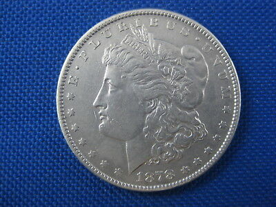 1878 S U.s. Morgan Silver Dollar Coin Cleaned