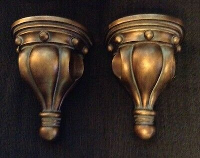 Pair Of Pretty Curtain Rod Sconces  French~Vintage Style