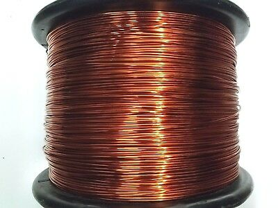 "Essex Magnet Wire, 12 AWG Gauge 0.0808"" 8oz 25ft Enameled Copper Coil Winding"