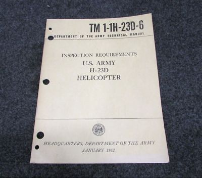 1962 H-23 D Helicopter Inspection Requirements Manual BD