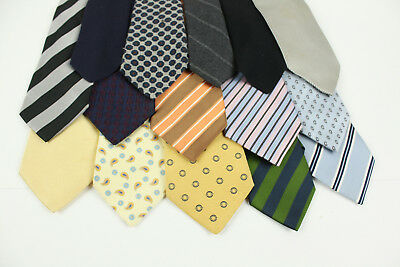 Willie Brown Collection Lot 15 Ties Navy Yellow Silk Wool