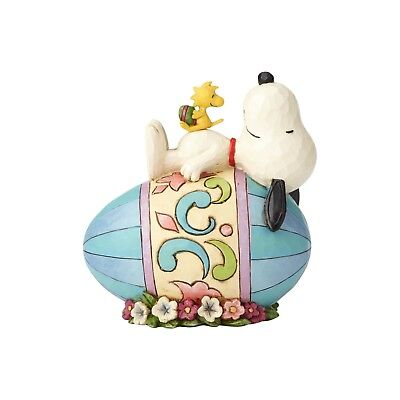 Jim Shore Peanuts Snoopy & Woodstock on Easter Egg Easter 4059432 Good Eggs NEW