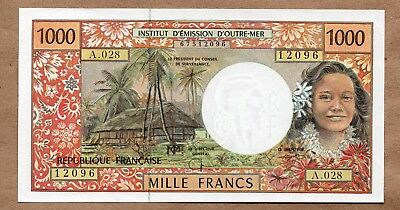 FRENCH PACIFIC TERRITORIES - 1000 FRANCS - ND1996 - P2g - AU/UNCIRCULATED
