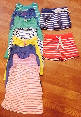 Mini Boden Girls Bundle Of Best Tops & Shorts Age 5-6/7-8