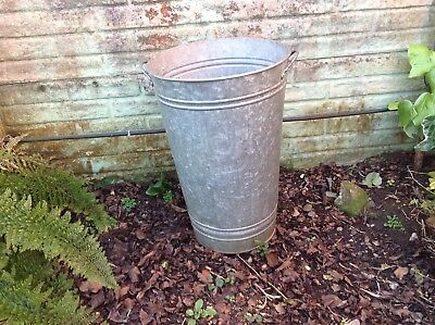 Large/Tall Galvanised/Metal Planter/Jardinare Garden Arcitectural