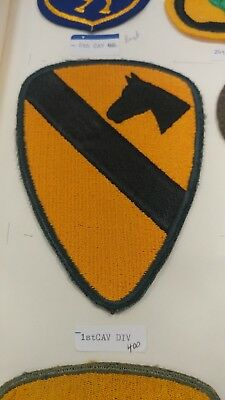 WWII WW2 US ARMY 1st Cavalry Division PATCH CUT EDGE NO GLOW