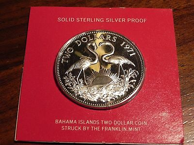 BAHAMAS 1971 Silver 2 Dollars Gem Proof