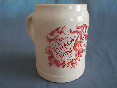 Rare Old Original The Ithaca Ny Hotel Beer Stein Mug The Dutch Kitchen Stoneware