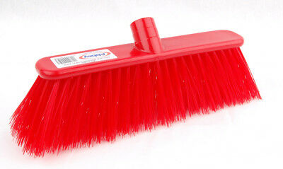 Abbey Red Stiff Deluxe Broom 1