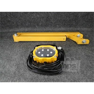 Saber ATD-80417 Swing Arm LED Dock Light, 16W, 120VAC, Yellow