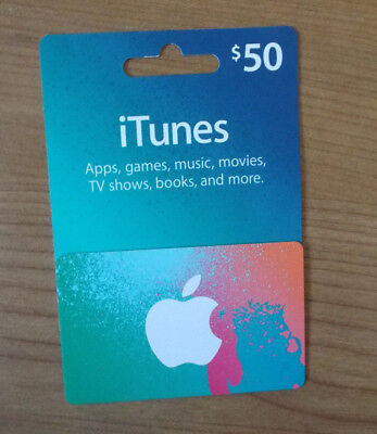 $50 App Store & iTunes Gift Card Apps, games, music, movies, TV shows, and more