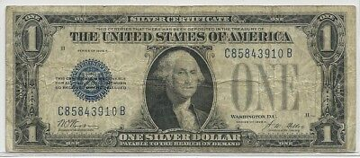 Series 1928-A US $1 Silver Certificate Note - Funny Back