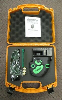 New - Johnson Self-Leveling Green Cross-Line and Red 5 Dot Laser Level 40-6688