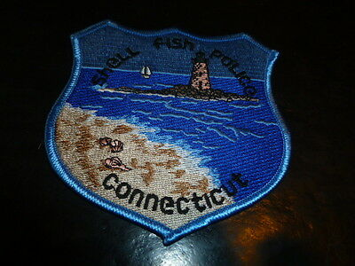Shell Fish Police Patch Connecticut very quick careful free shipping