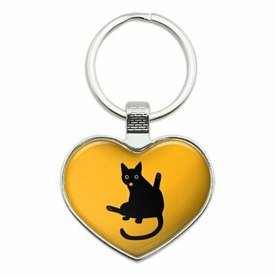 Black Cat Lifting Leg and Licking Novelty Clip-On Stud Earrings