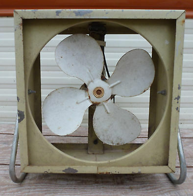 "Vintage 12"" Wards Signature 2 Speed Electric Metal Blade Box Fan montgomery"