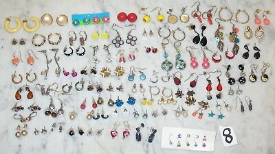80  PAIR LOT OF  SMALL to VERY SMALL PIERCED EARRINGS VINTAGE TO NOW   8