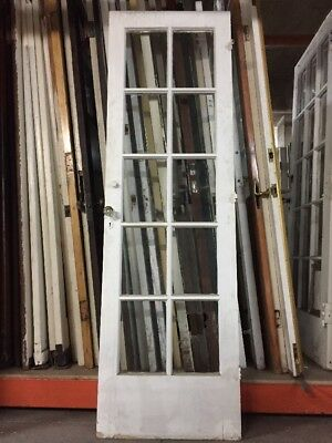 "French door Old Single French Door 78 1/2"" X 24""10 Glass antique vintage"