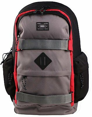 58e2fd2f55 VANS JETTER BACKPACK Black Gray Red Large One Size -  53.99