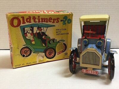 "Vintage ""Modern Toys"" Old Timers No. 20 Tin Toy Car w/Box Working"